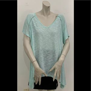 SUZANNE BETRO GREEN SHORT SLEEVE TOP